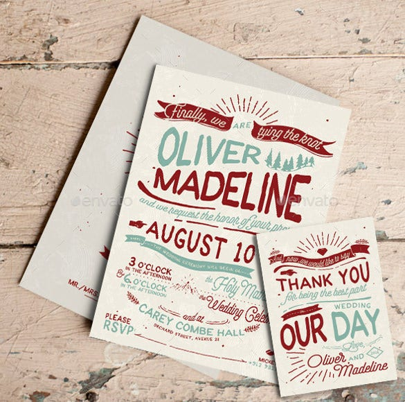 rustic hand lettering wedding invitation template download