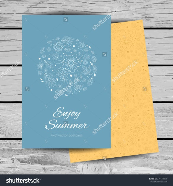 light colours 4x6 postcard template