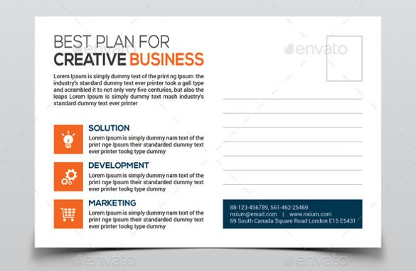 4x6 corporates postcard template psd download