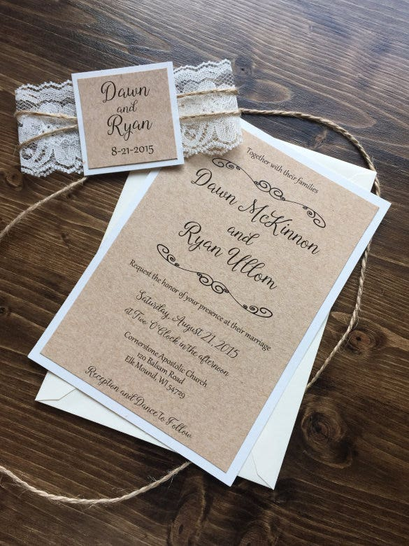 25 Rustic Wedding Invitation Templates Free Sample