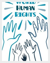 World-human-rights-postcard-Free-Vector