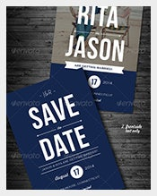 Blue-With-Custom-Photograph-Save-the-Date-Invitation-Card-Template