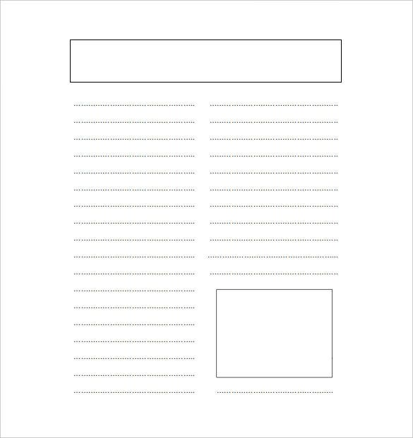 Free Blank Newspaper Word Template Download