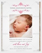 Baby-Announcement-Postcard-template-