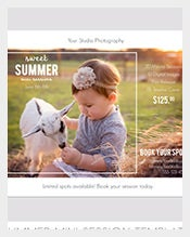 Summer-Photo-Session-Kids-Postcard-template