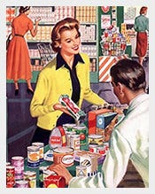 Vintage-Grocery-Shopping-Business-Sale-Postcard-Template