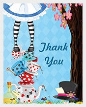 Animated-Alice-in-Wonderland-Thank-You-Post-Cards