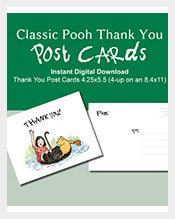 Green-Classic-Winnie-the-Pooh-Thank-You-Postcard