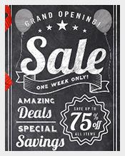 Chalkboard-style-Sale-Postcard