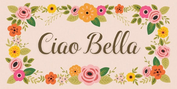 Ciao Bella Font Family