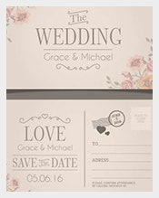 Wedding-invitation-in-postcard-style