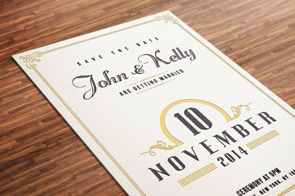 vintage and elegant wedding invitation template