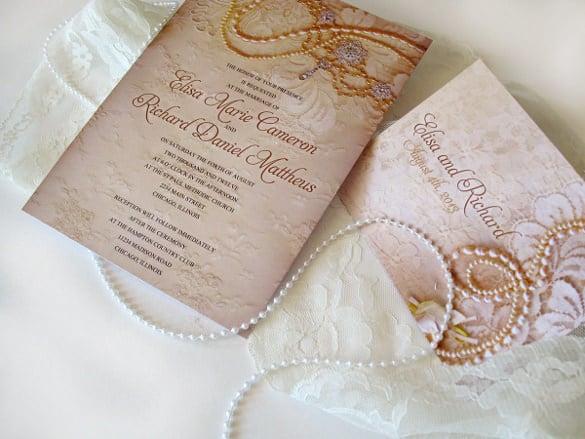 31 Elegant Wedding Invitation Templates Free Sample Example