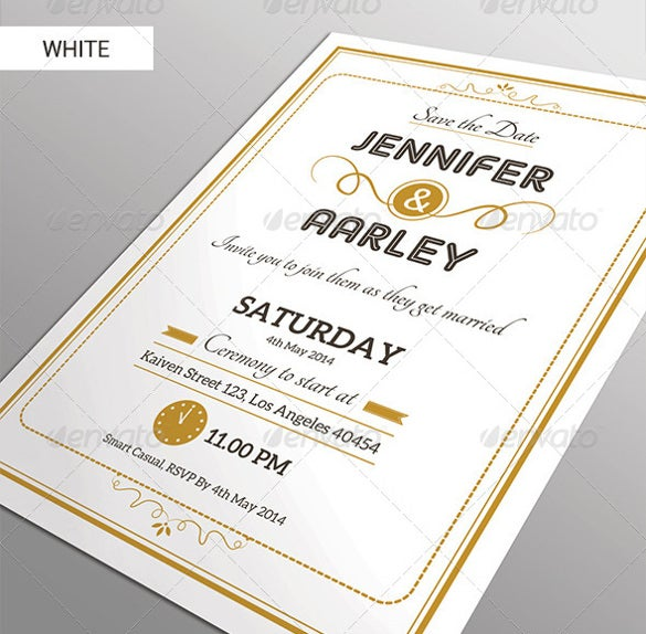 simple vector elegant wedding invitation