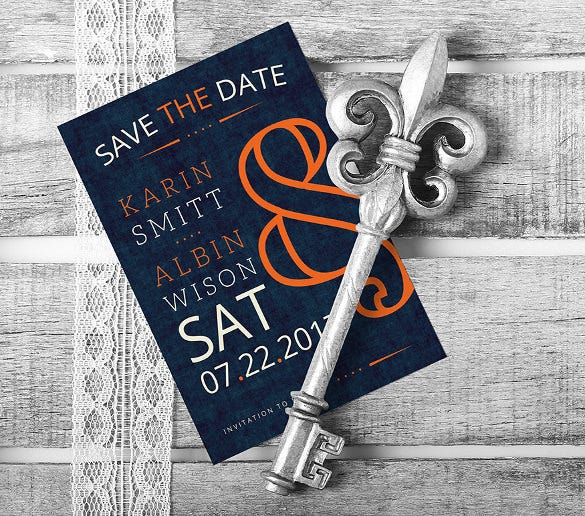 vintage save the date elegant wedding invitation template