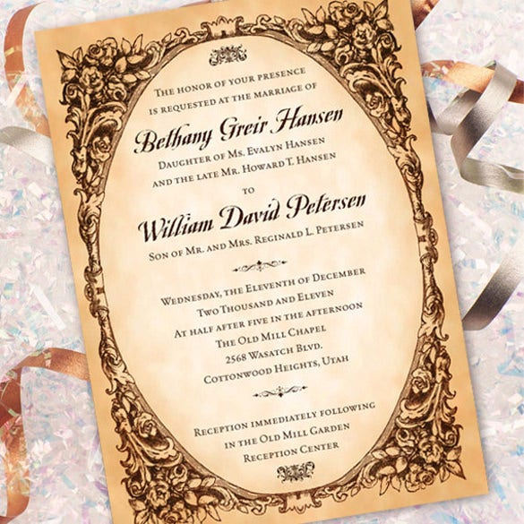 Sample Invitations For Wedding: 31+ Elegant Wedding Invitation Templates