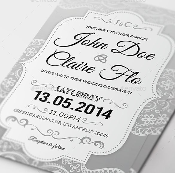 31 elegant wedding invitation templates free sample example