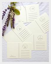 Cream-blank-postcards