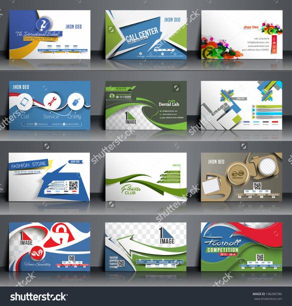 mega collection of postcard template design