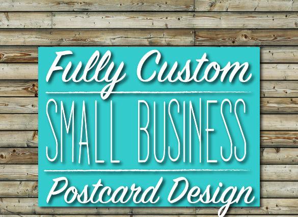 custom business postcard design download
