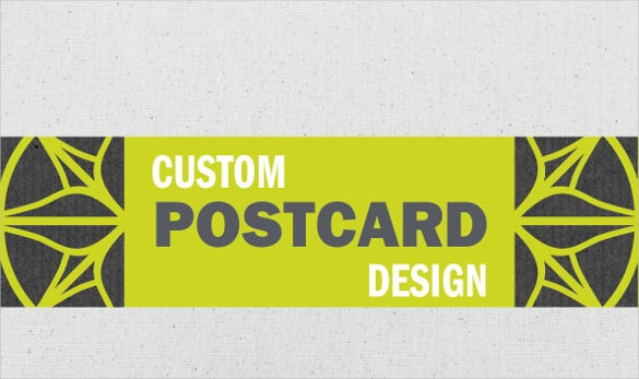 custom and graphic postcard design