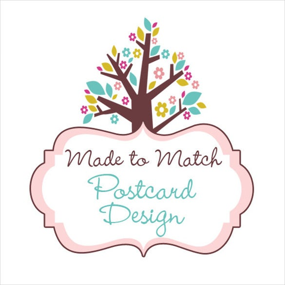 postcard design template in tree format