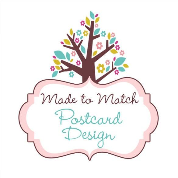 postcard design template in tree format