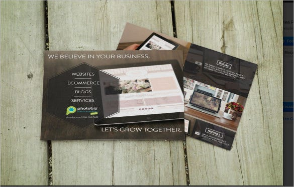 collateral postcard design template download