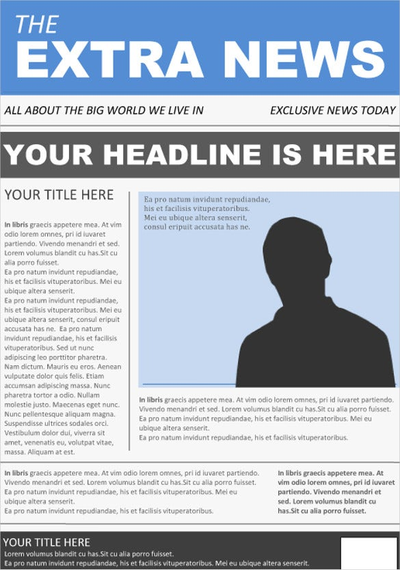 Newspaper Article Template Word. Free Newspaper Templates Print