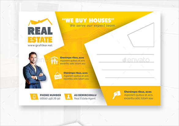 real estate postcard template photoshop psd