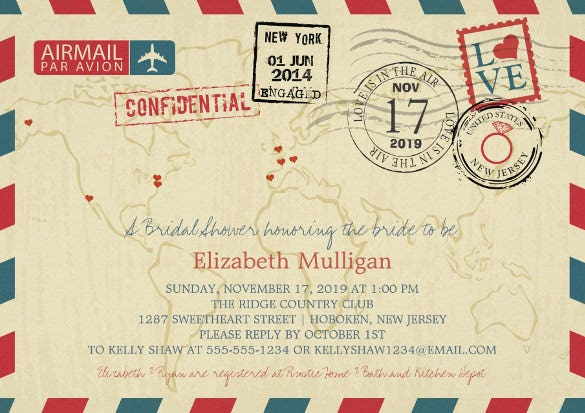 world traveler airmail addressing wedding invitation template