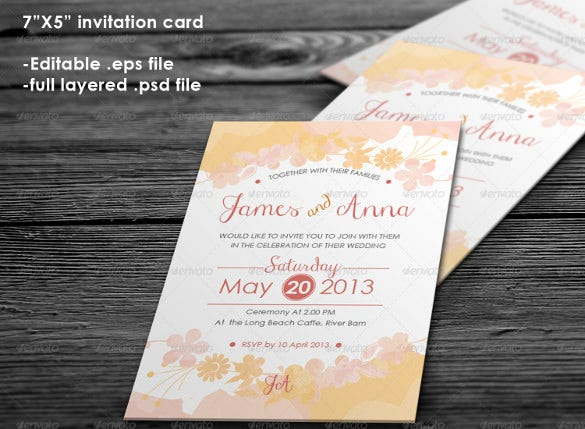floral addressing wedding invitation template