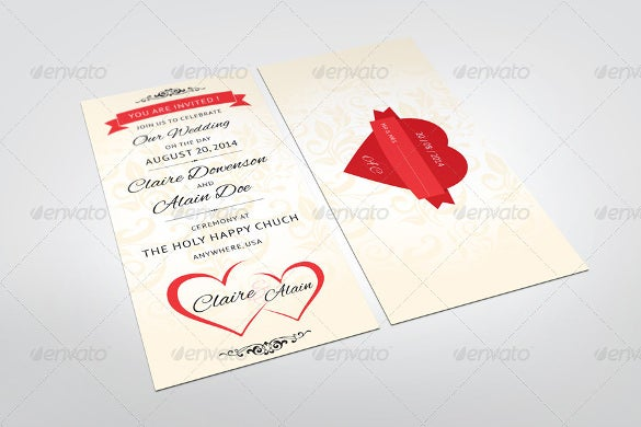 love heart addressing wedding invitation template