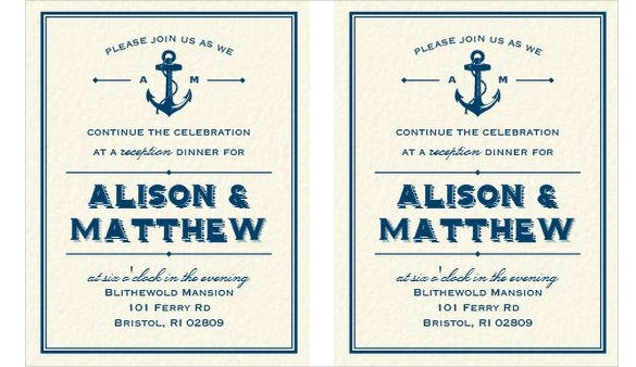 nautical addressing wedding invitation template download