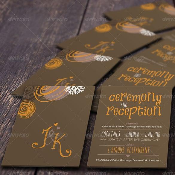 Addressing Wedding Invitation- PSD Format Download