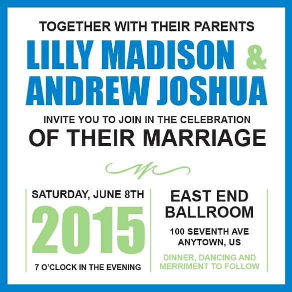 beautiful addressing wedding invitation template