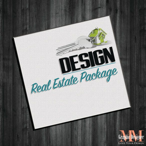 real estate mega design potcard template