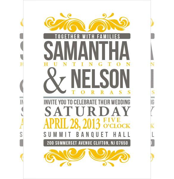 custom printable addressing wedding invitation template