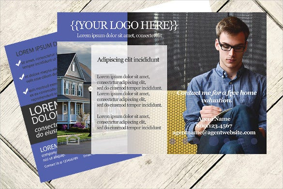 real estate postcard template3