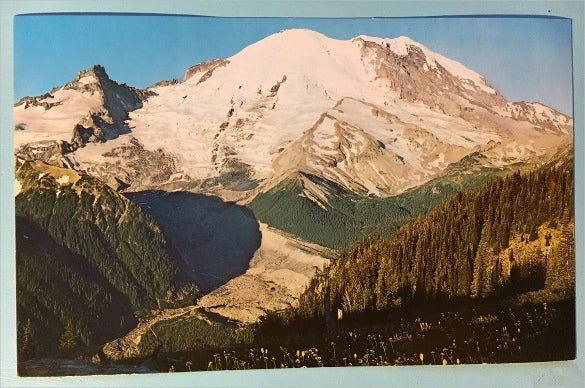 mt rainier national park sunrise 6 x 922 postcard