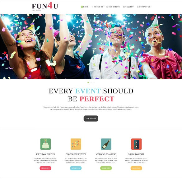 festivity evenet planning joomla theme