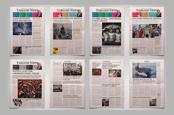 Newspaper Front Page Template 10 Free Word Ppt Eps Documents