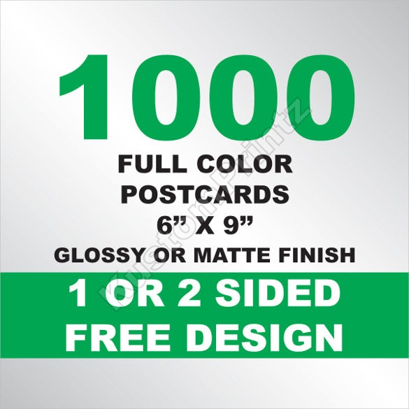 Postcard Templates Free Sample Example Format Download - 6x9 postcard template