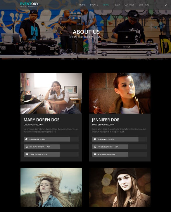 responsive music dance events joomla template
