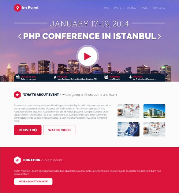 business event conference joomla template1
