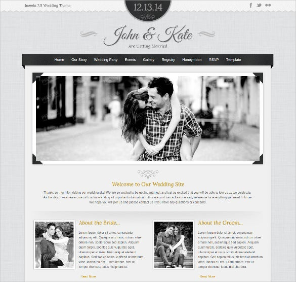 wedding event joomla theme
