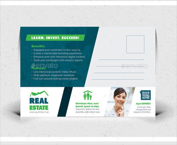 real estate postcard template photoshop psd format