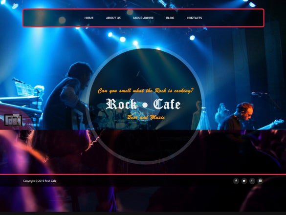 rock cafe music responsive joomla event theme