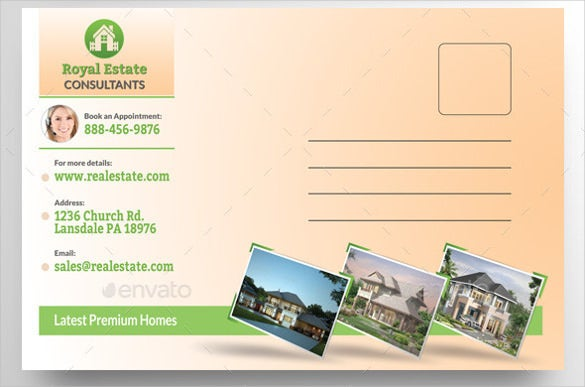 real estate postcard template download