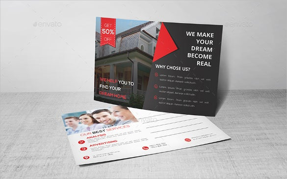 postcard template download for real estate purpose